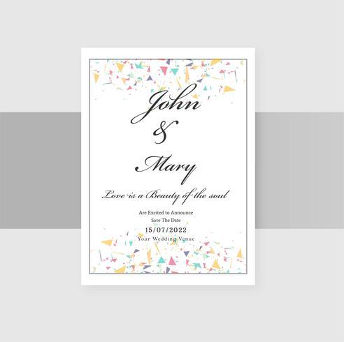 Set av bröllop inbjudningskort bakgrund vektor