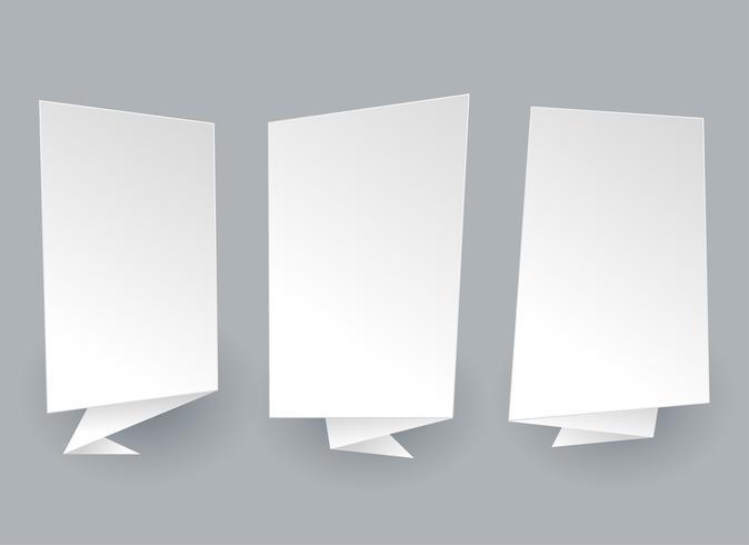 empty white chat bubbles set