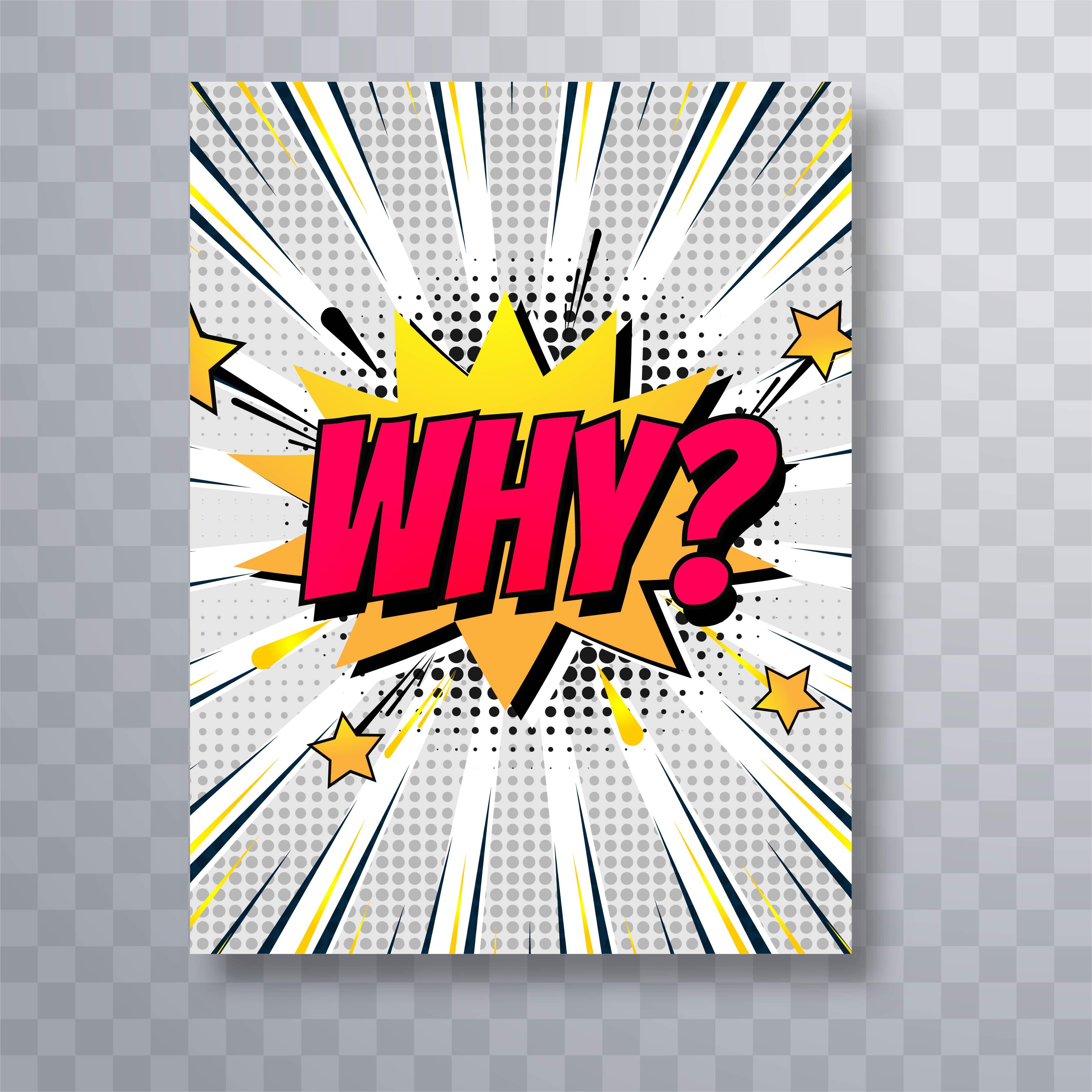 pop art colorful comic book template brochure design