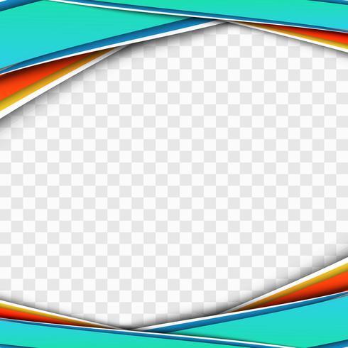 Modern färgstark affärsvåg genomskinlig design vektor