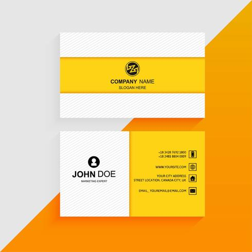 Abstract professional colorful business card template background