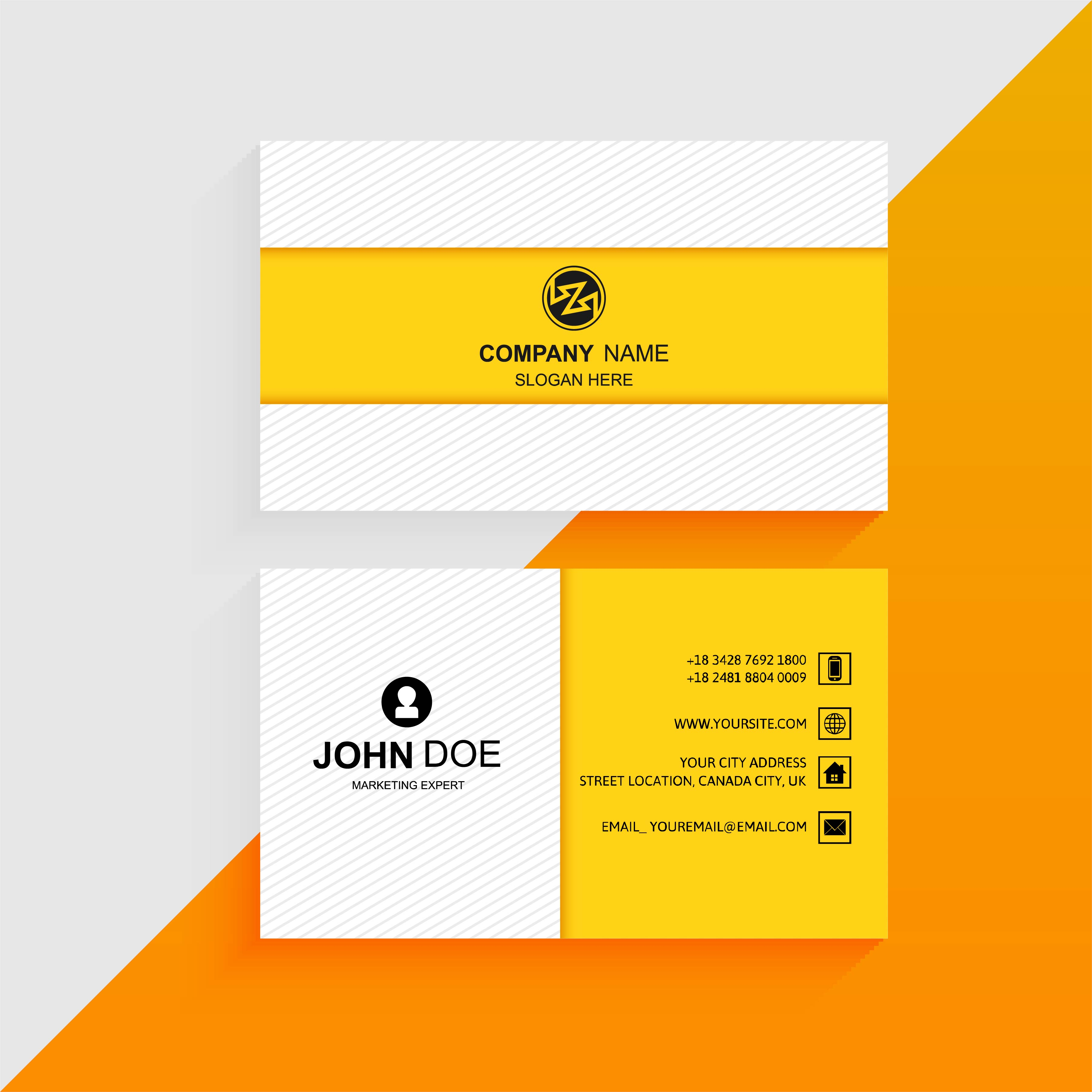 Abstract professional colorful business card template ...