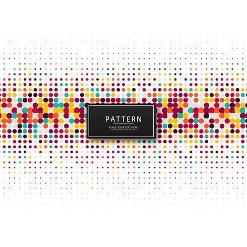 Elegant colorful dots pattern background