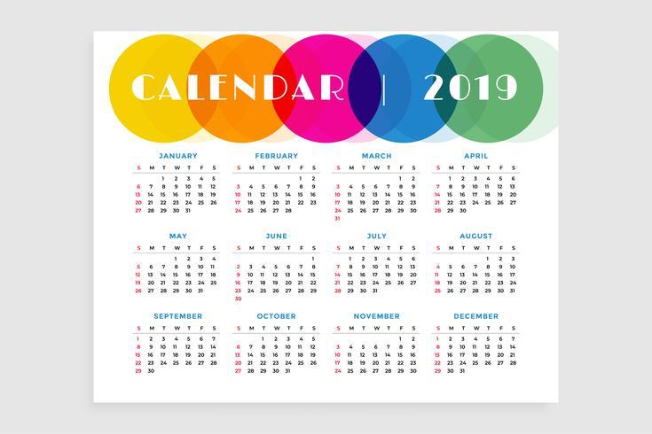 2019年曆範本 免費下載 | 天天瘋後製