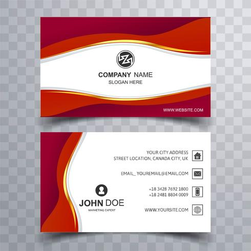 Vector modern creative and clean business card template with wav