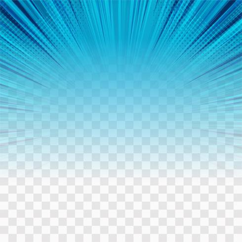 Transparenter Hintergrundvektor der modernen blauen Strahlen vektor