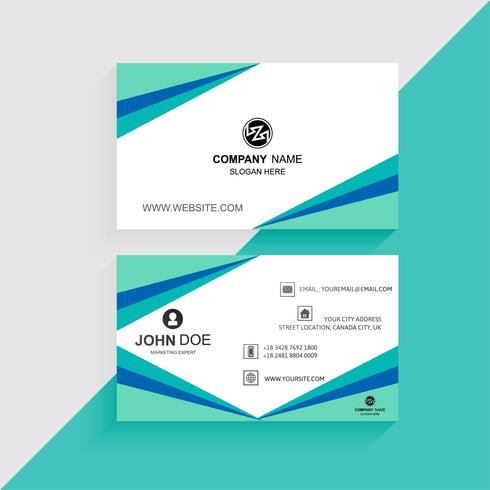 Beautiful colorful business card template with wave vector
