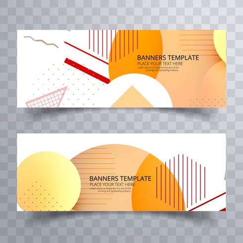 Modern colorful geometric business card template vector