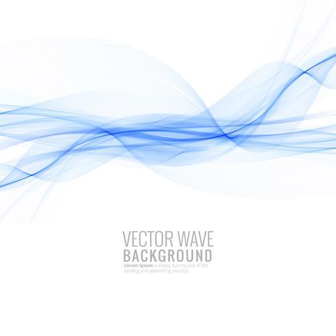 Beautiful blue stylish wave background vector