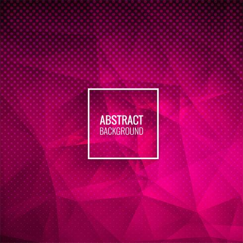 Abstract pink polygon dotted background illustration