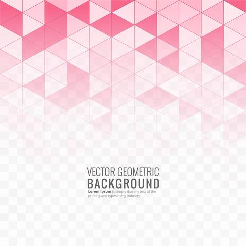 Beautiful pink geometric background illustration