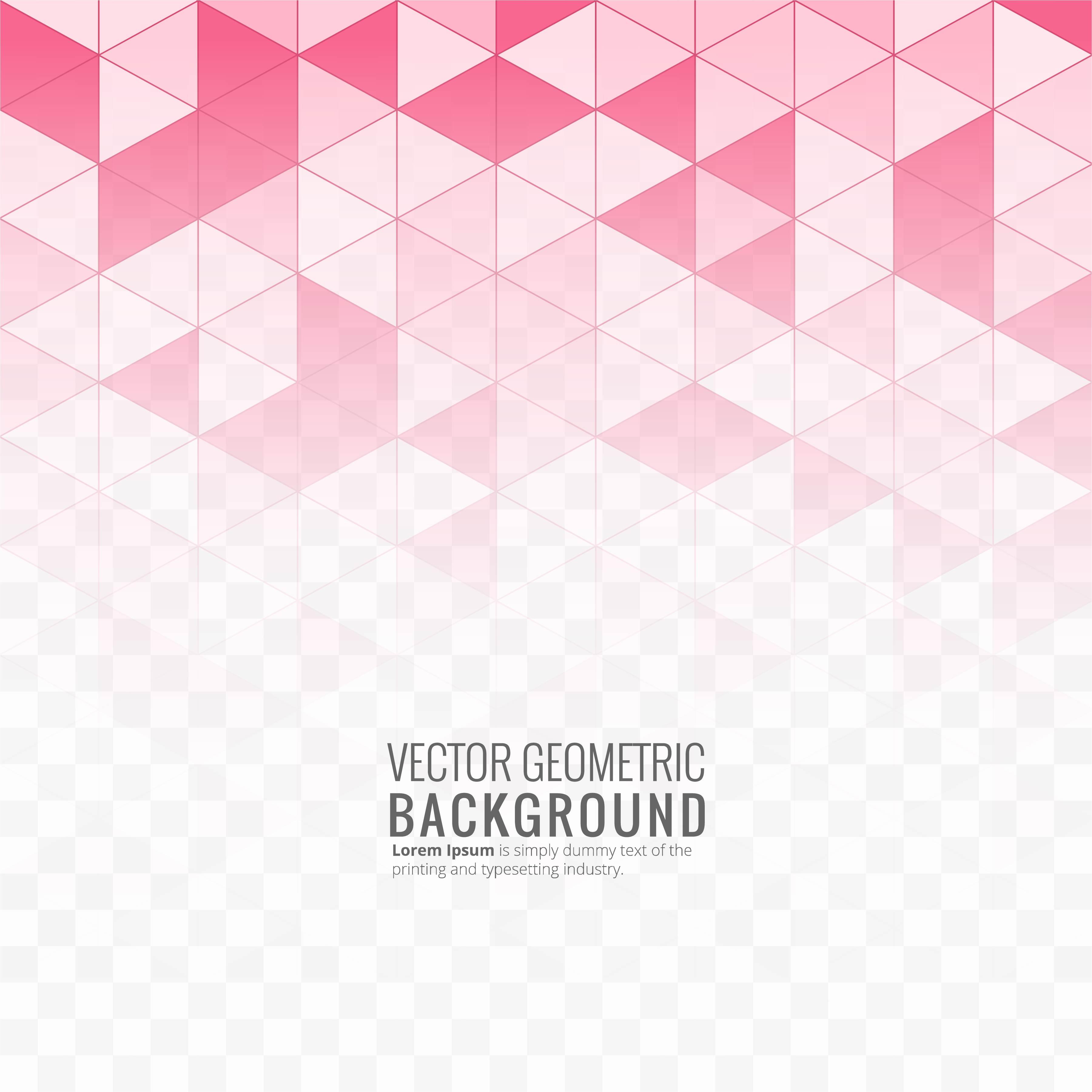 Vector Illustration Web Designs: Beautiful Pink Geometric Background Illustration