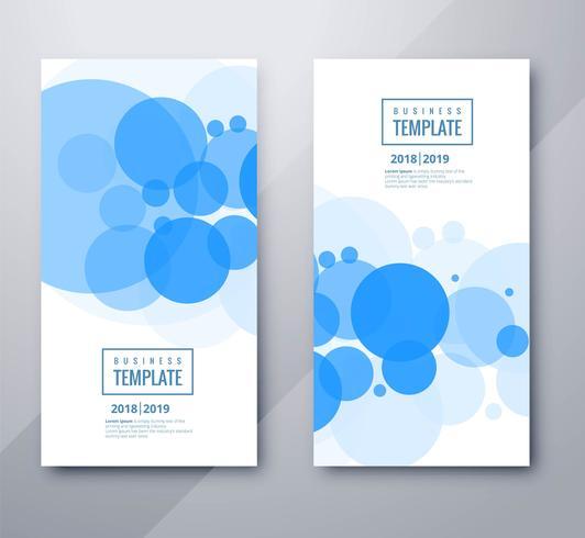 Scénographie de beaux cercles business template