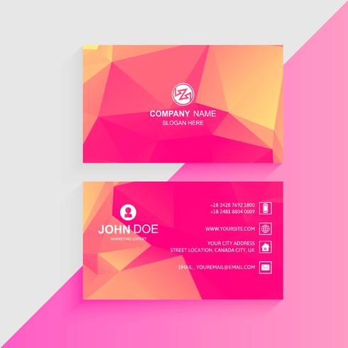 Abstract colorful business card template design