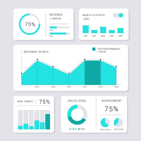 Modern Chart UI Kit Minimalistic Style