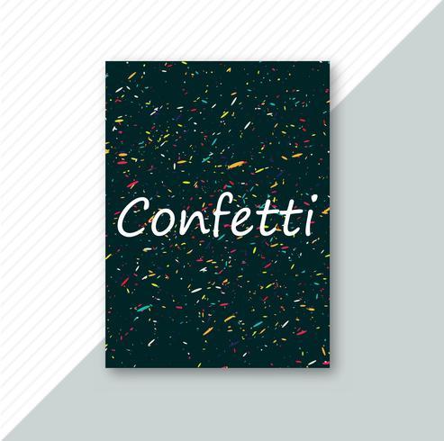 Vacker färgrik konfetti broschyr mall design