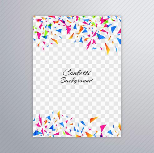 Diseño colorido de la plantilla del folleto del confeti abstracto