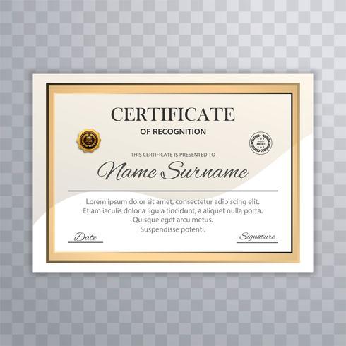 Hermoso fondo de plantilla de certificado