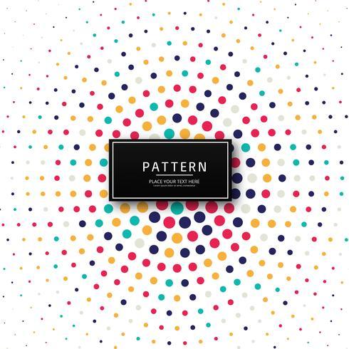 Vacker färgstark prickig mönster bakgrund