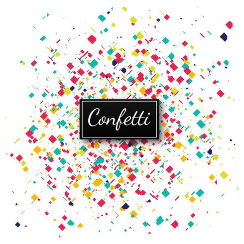 Colorful confetti background illustration