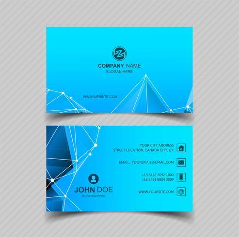 Modern blue business card design vector