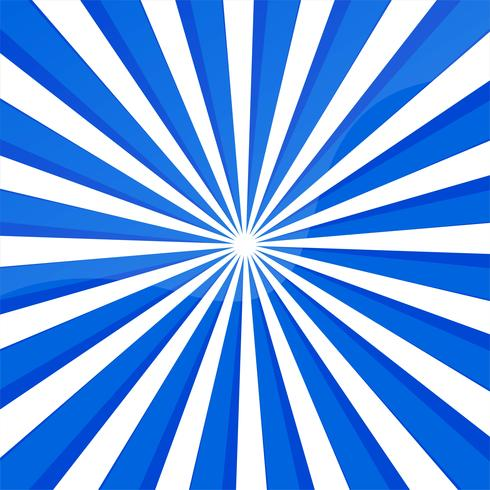 Abstract blue lines background with rays