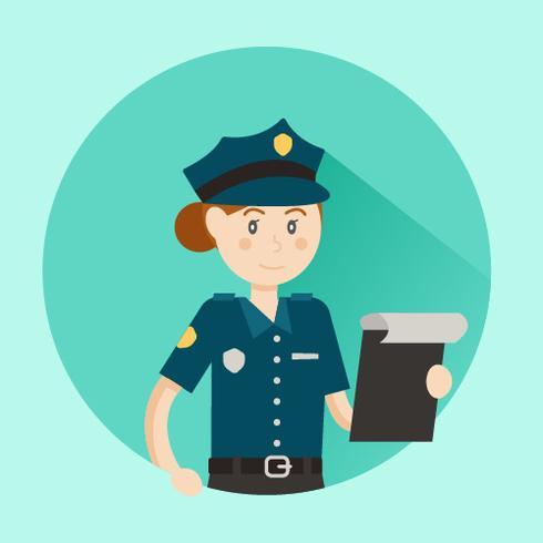 Women Police Officer Vector