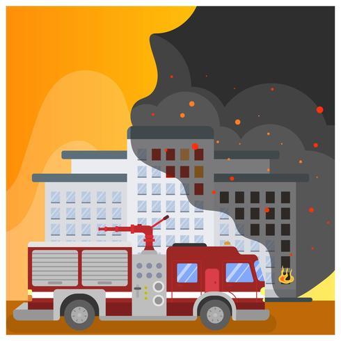 Flat Firefighter Car