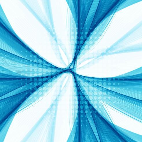 Vettore elegante astratto della priorità bassa dell'onda blu