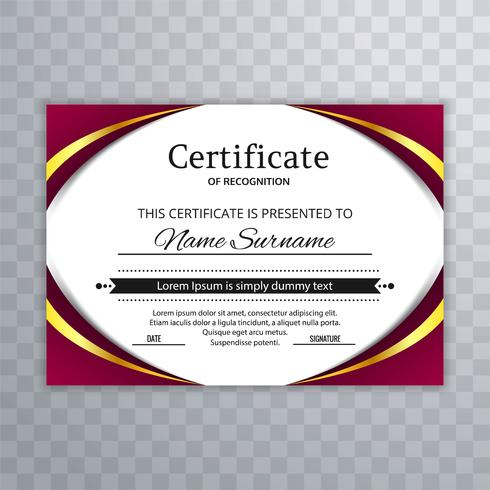 Certificate of Appreciation template with wave design vector