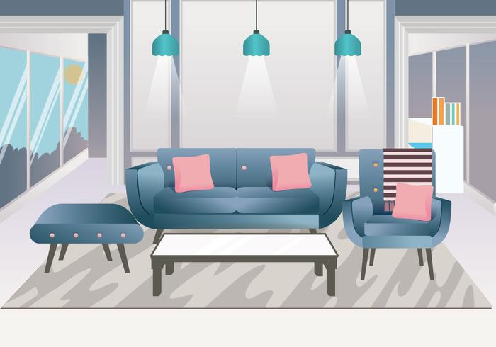 Realistic Interior Design Elements Vector
