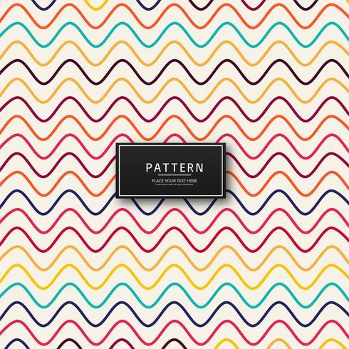 Vacker färgstark linjemönster design