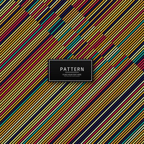 Abstract colorful creative lines pattern design