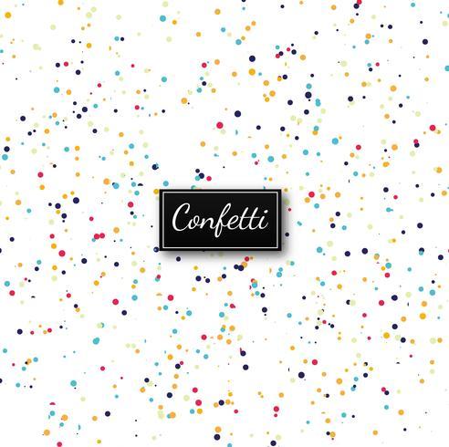Elegant colorful confetti background vector