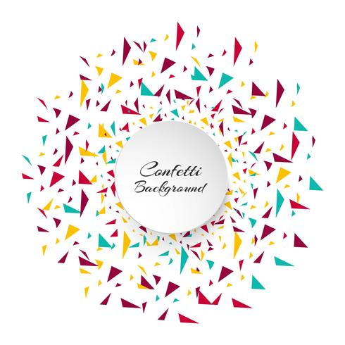 Peças de confete colorido abstrato. Fundo de férias