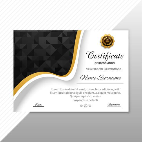 Beautiful diploma certificate template background
