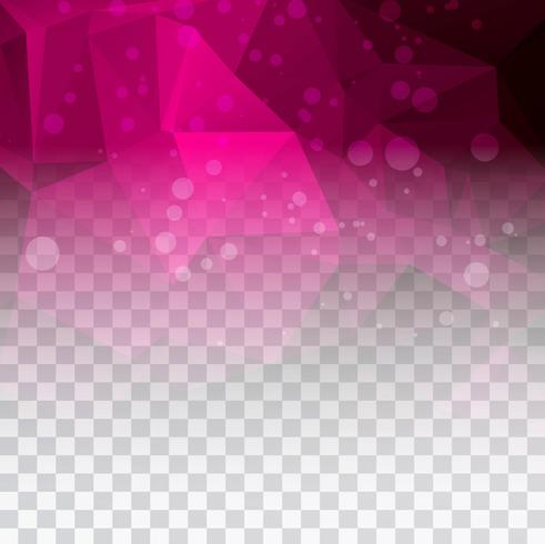 Illustration de fond transparent magnifique polygone rose