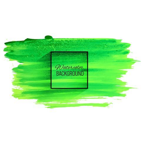 Fondo verde abstracto del movimiento de la acuarela