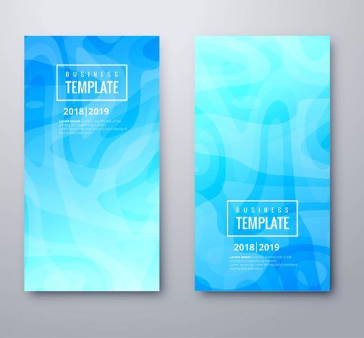 Banners azules hermosos set diseño de plantillas