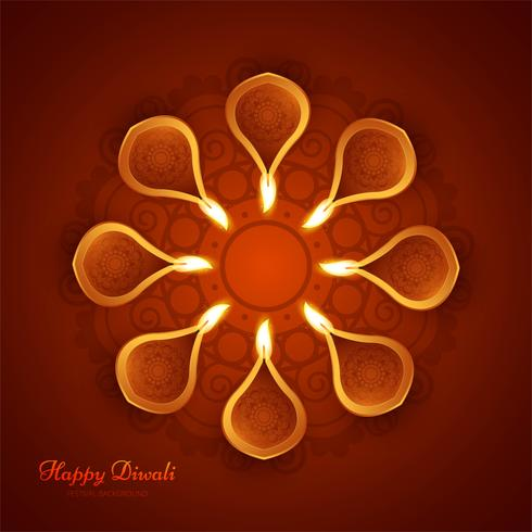 Modern beautiful colorful diwali bright design