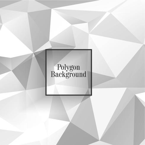 Modern grey polygon background vector