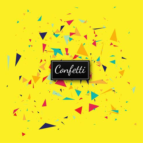 Elegant confetti yellow background vector