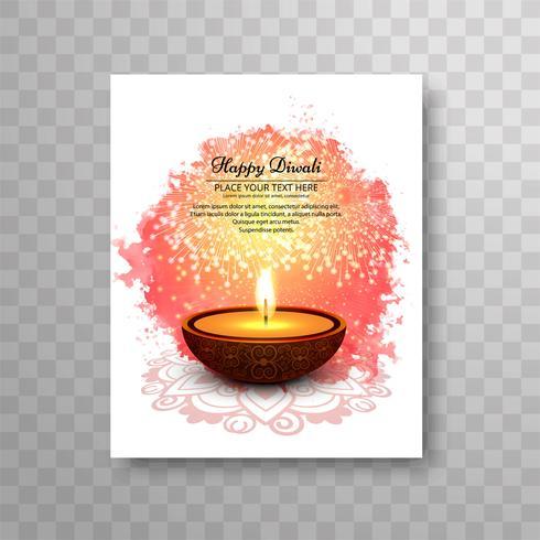 Modern vacker färgrik diwali broschyrdesign