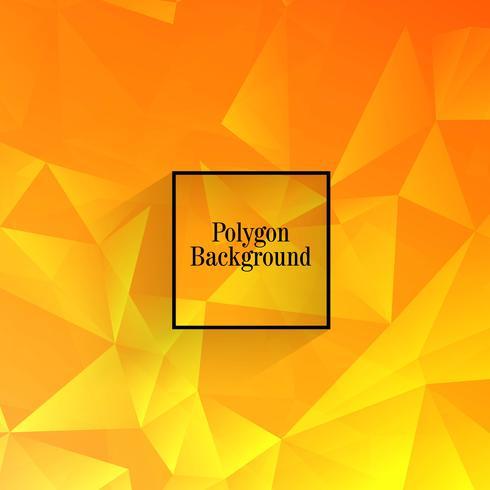 Vetor de fundo abstrato polígono laranja