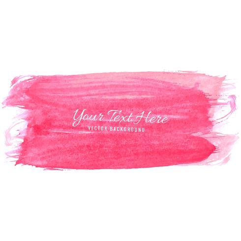 Beautiful pink hand draw stroke watercolor design