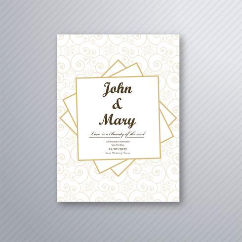 Bröllop inbjudningskort mall vektor