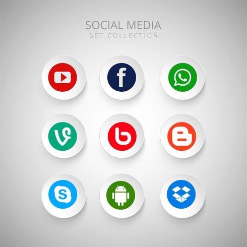 Scénographie de beaux médias sociaux