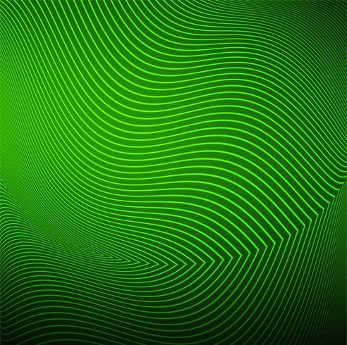 Vetor de fundo de onda moderna linha verde