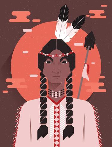 Indigenous People Indian Vector