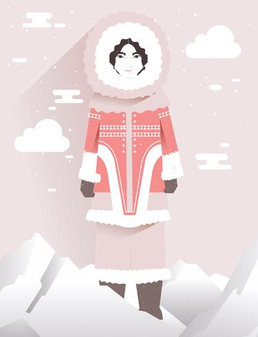 Indigenous People Eskimo Vector